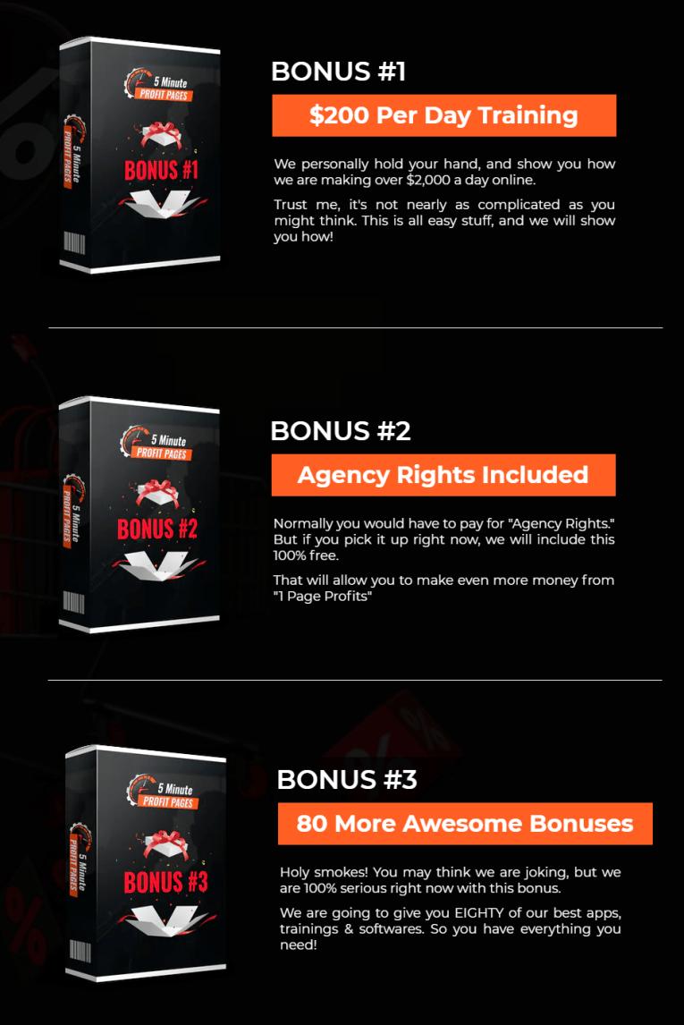 5 Minute Profit Pages Bonus